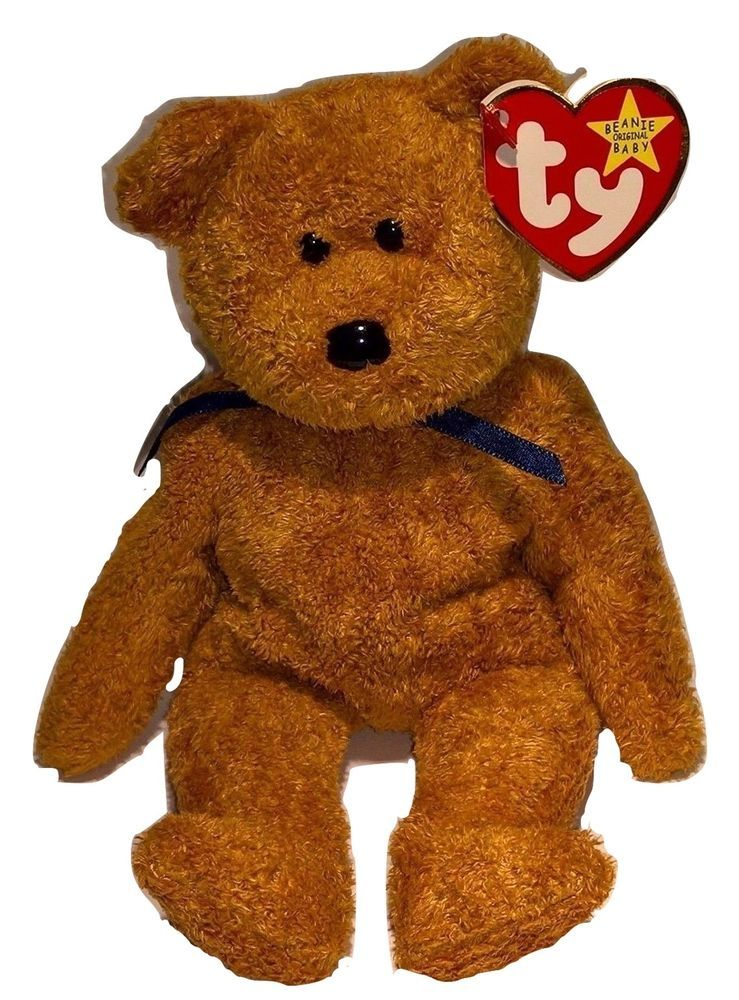 c3caf388f30 Retired 1998 FUZZ Beanie Baby Tag Date Error No Factory Number in Tush Tag  MWMT  Ty