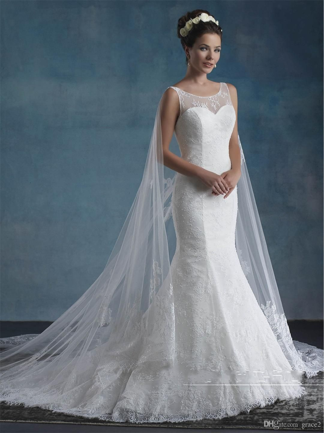 Fitted Cloak Wedding Dress