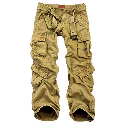 OCHENTA Mens Multi Pockets Military Cargo Pant