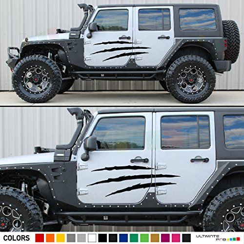 Jk Jeep Wrangler Door Claw Scratches Decal Sticker Jeep Wrangler