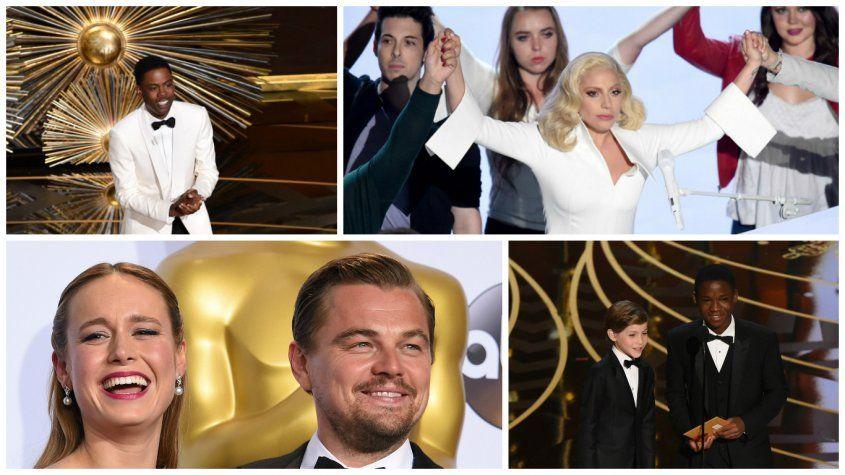 Los mejores momentos de los premios Oscar   El comediante Chris Rock dirigió una premiación repleta de segmentos jocosos, canciones poderosas y triunfos anhelados