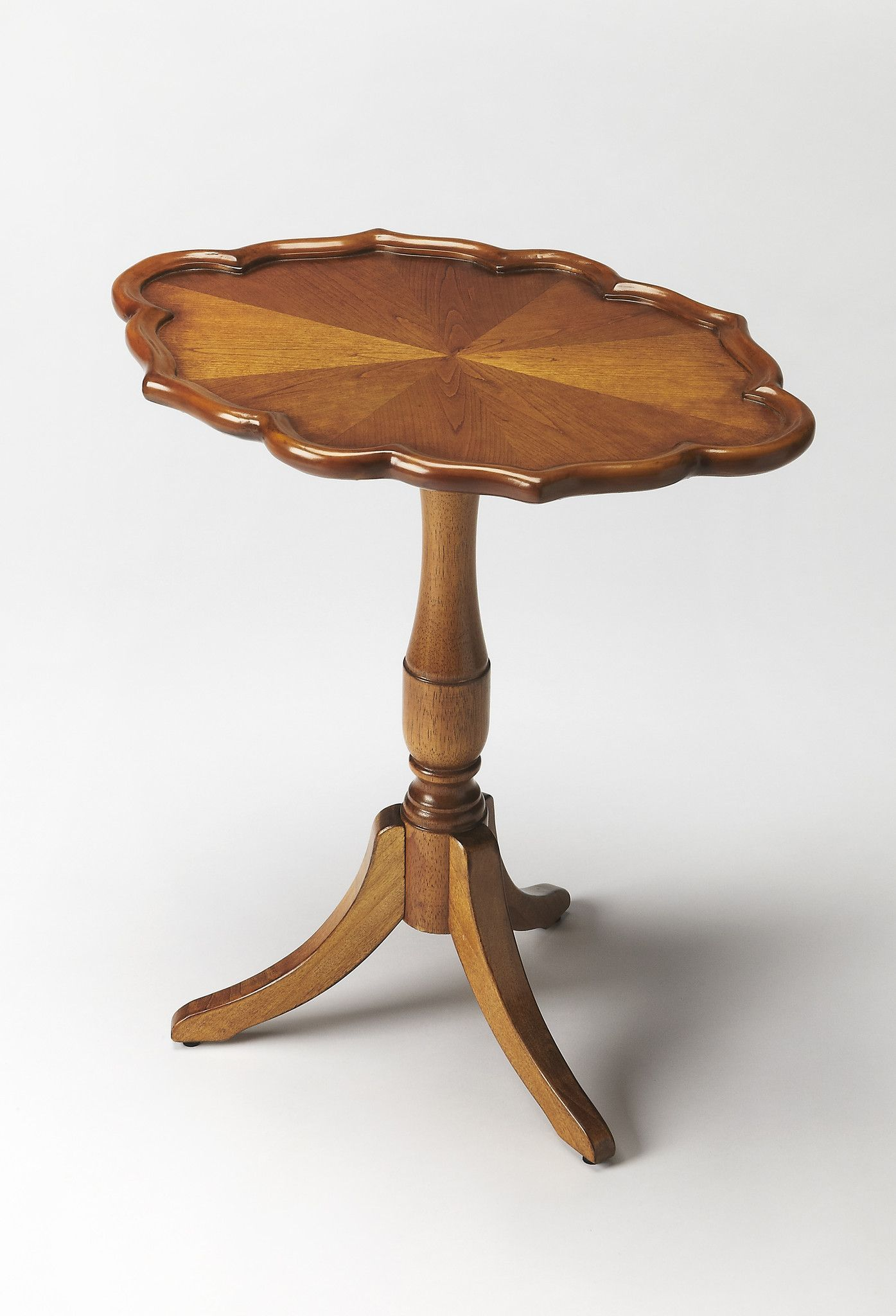 Masterpiece Higgins Olive Ash Burl Oval Pedestal Table