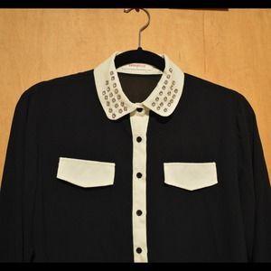 Blusa beige negra
