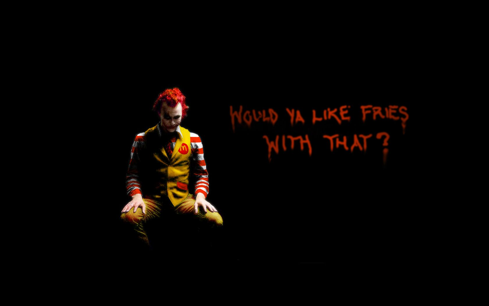 Delicieux Batman Quotes The Joker Ronald McDonald McDonalds / 1680x1050  Wallpaper