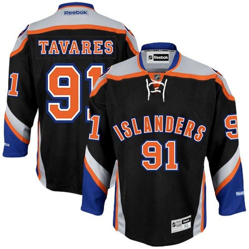 eec1cb3a ... John Tavares New York Islanders Reebok Premier Player Jersey - Black ...