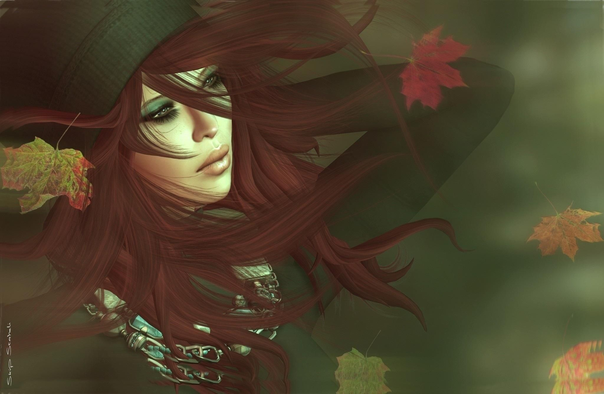 Awesome Autumn Girl Download Wallpaper For Mobile Wallpaper