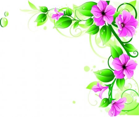 Purple flower frame - 3D and CG Abstract Background Wallpapers ...