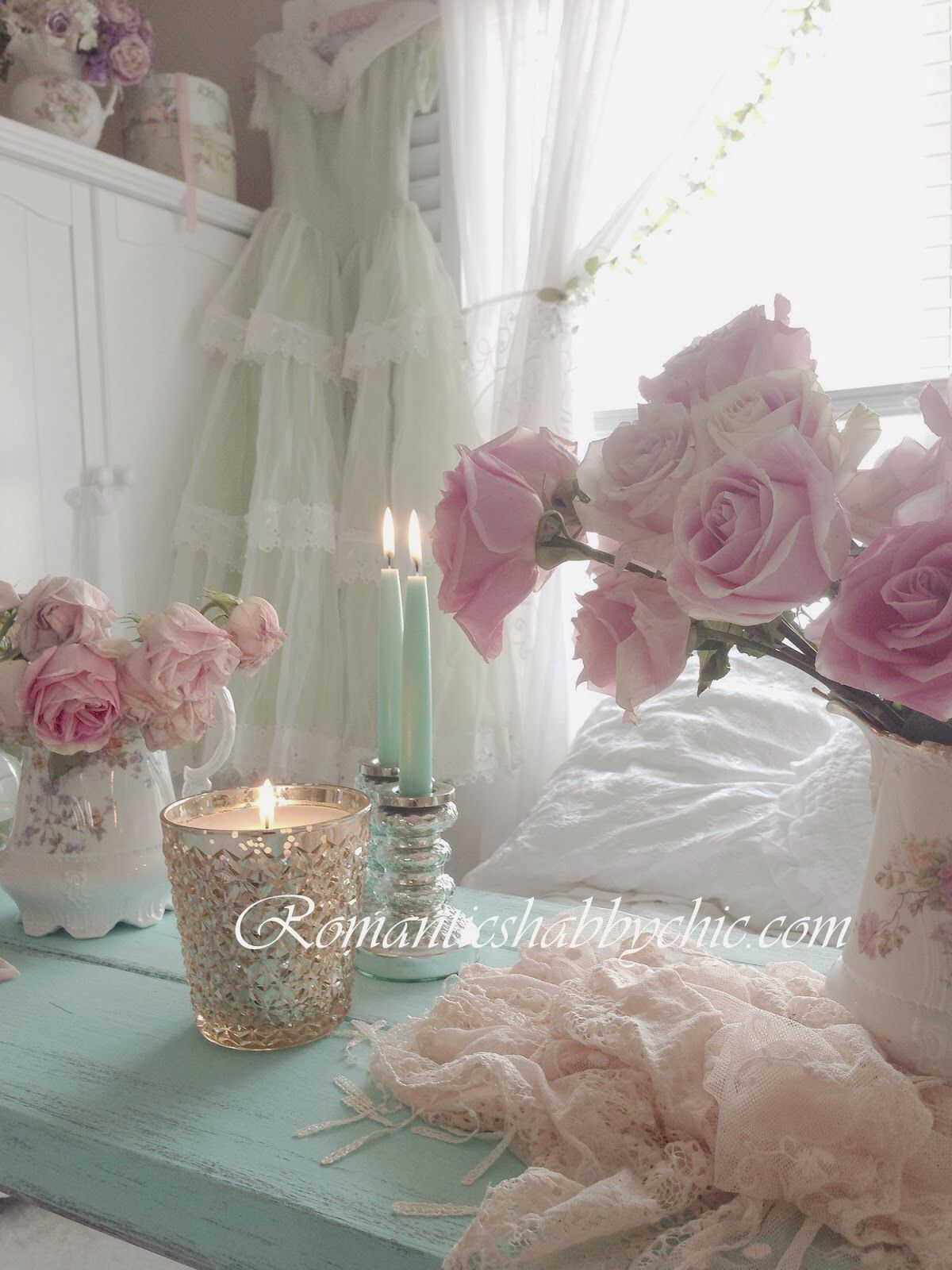 Romantic shabby chic home romantic shabby chic blog -  Romantikevim Romantik Ev Dekorasyonu Cicek Desenleri My Shabby Chic Home Bedroom Shabby Chicromantic
