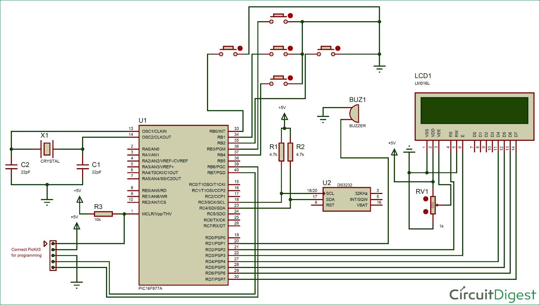 small resolution of digital alarm clock circuit diagram using pic microcontroller voltmeter using 8051 electronic circuits and diagramelectronics