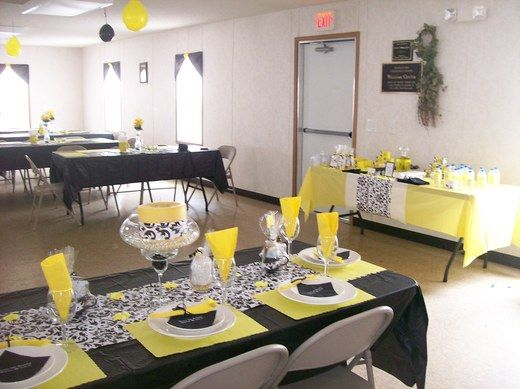 Yellow Black N White Paisley Birthday Party Ideas White Party