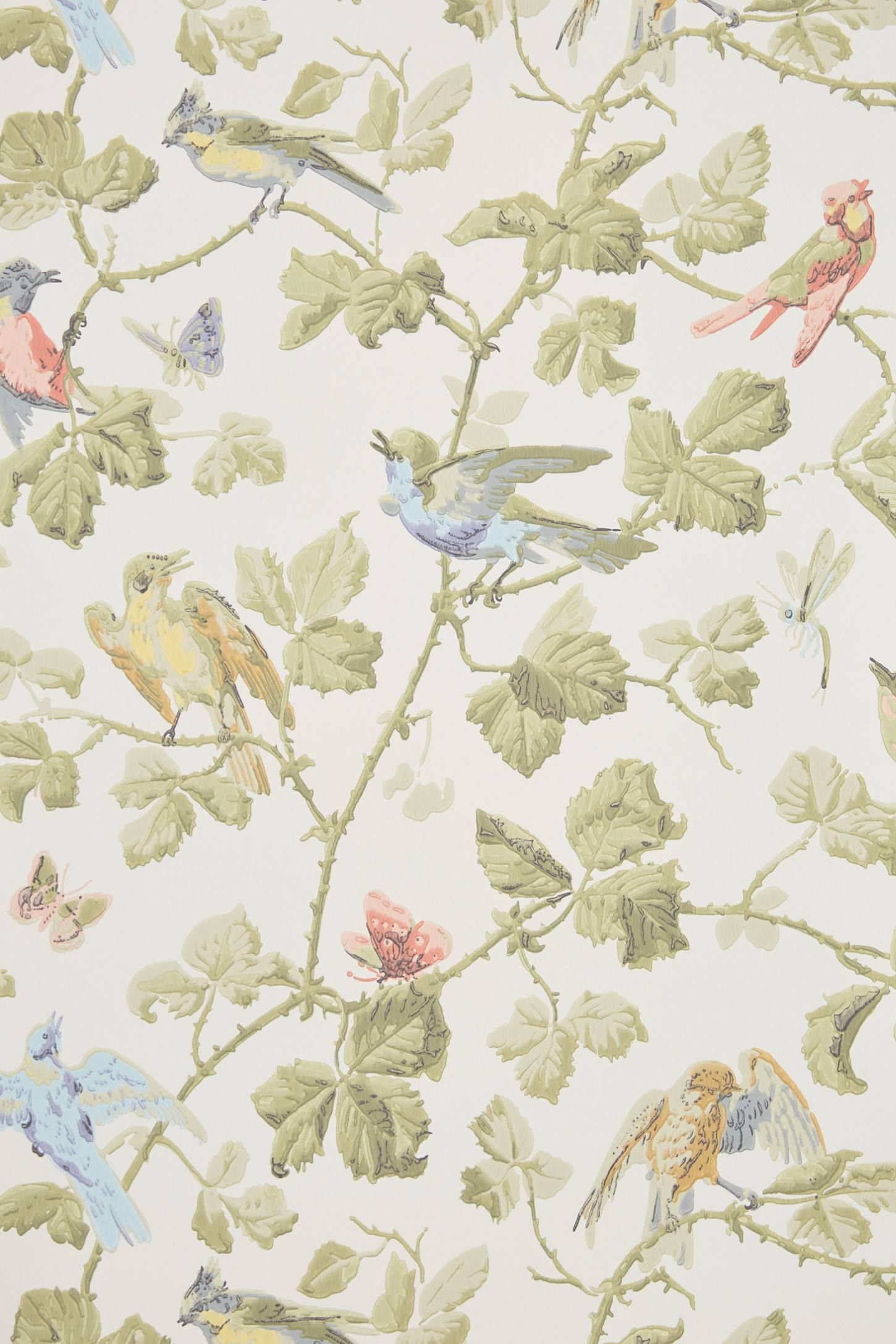 Wisteria Cranberry from the Laura Ashley wallpaper collection