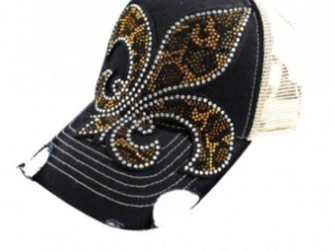 26e110fb0f359 Rhinestone Flue Trucker Hat  20.00 USD Flur trucker hat with distressing on  bill snap ...