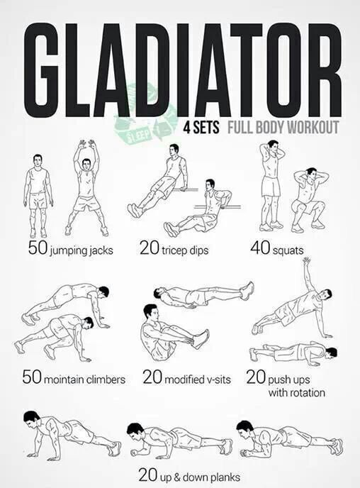 the gladiator full body workout