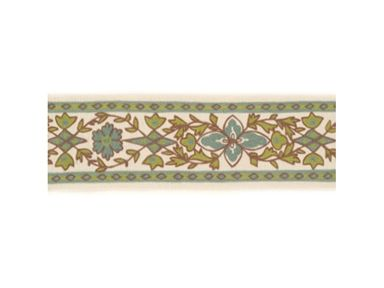 Brunschwig & Fils MIRA TAPE BORDER AQUA/CHARTREUSE BR-800057.M24 - Brunschwig & Fils - Bethpage, NY, BR-800057.M24,Brunschwig & Fils,Embroidery,Green,Up The Bolt,Floral Small,Upholstery,Yes,Brunschwig & Fils,No,Les Alizés,MIRA TAPE BORDER AQUA/CHARTREUSE