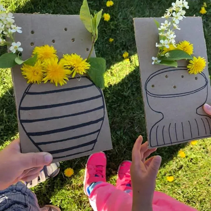 Simple Cardboard Vase Activity Encourages Kids To Explore The Great Outdoors