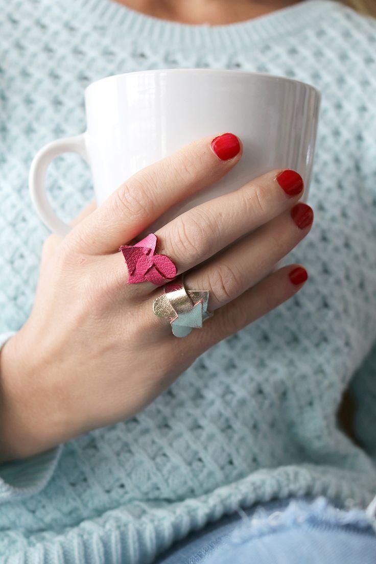 Joyería de cuero DIY, patrón de costura gratis para el Día de San Valentín
