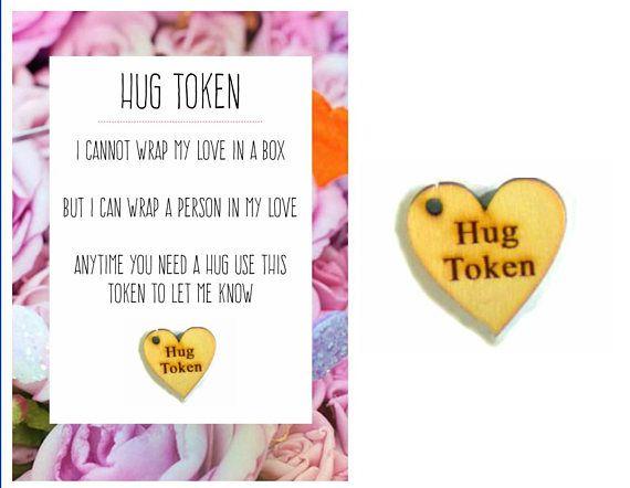 Hug Token Cheer Up Gift For Girlfriend I Love You Love Gift