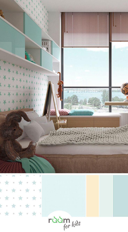 Ein Jugendzimmer für Mädchen in frischen Farben gestaltet