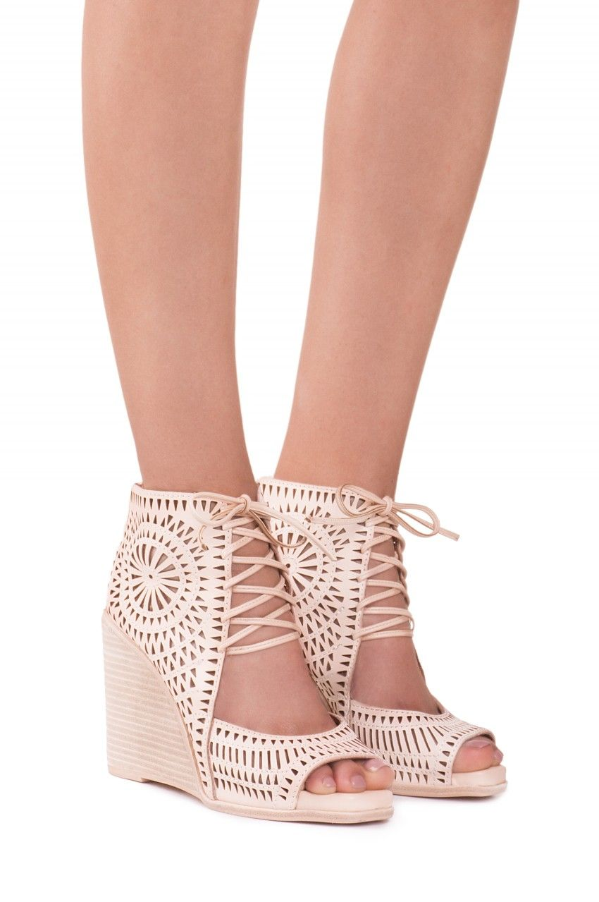 39005b4f266 Jeffrey Campbell Shoes RAYOS-HI Wedges in Nude