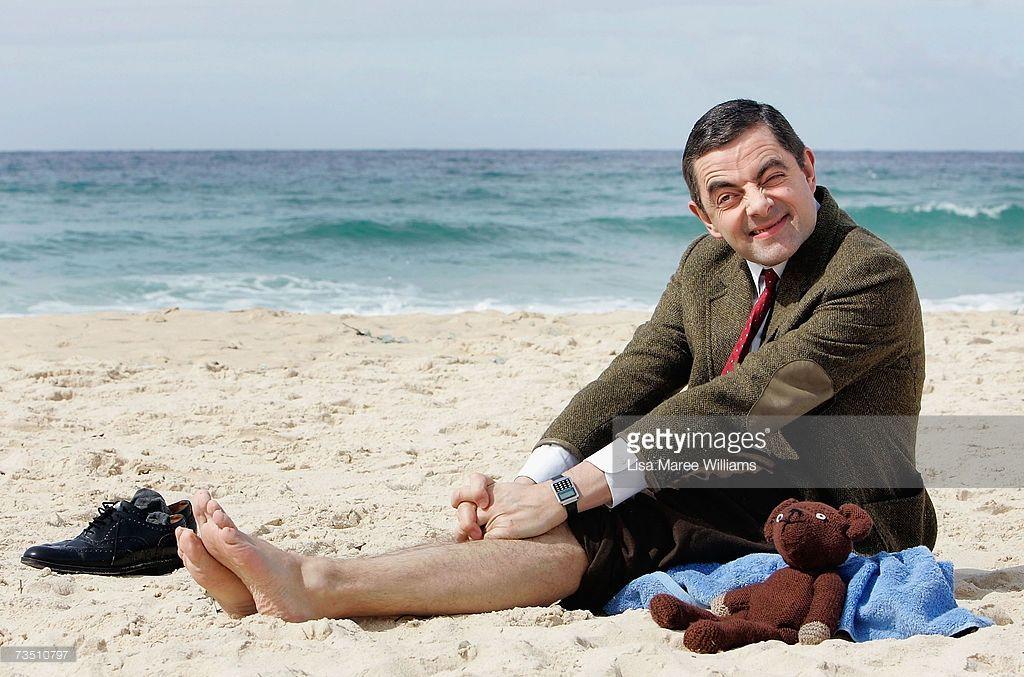 Funny Mr Bean Meme : Actor rowan atkinson in character as mr bean arrives at bondi beach