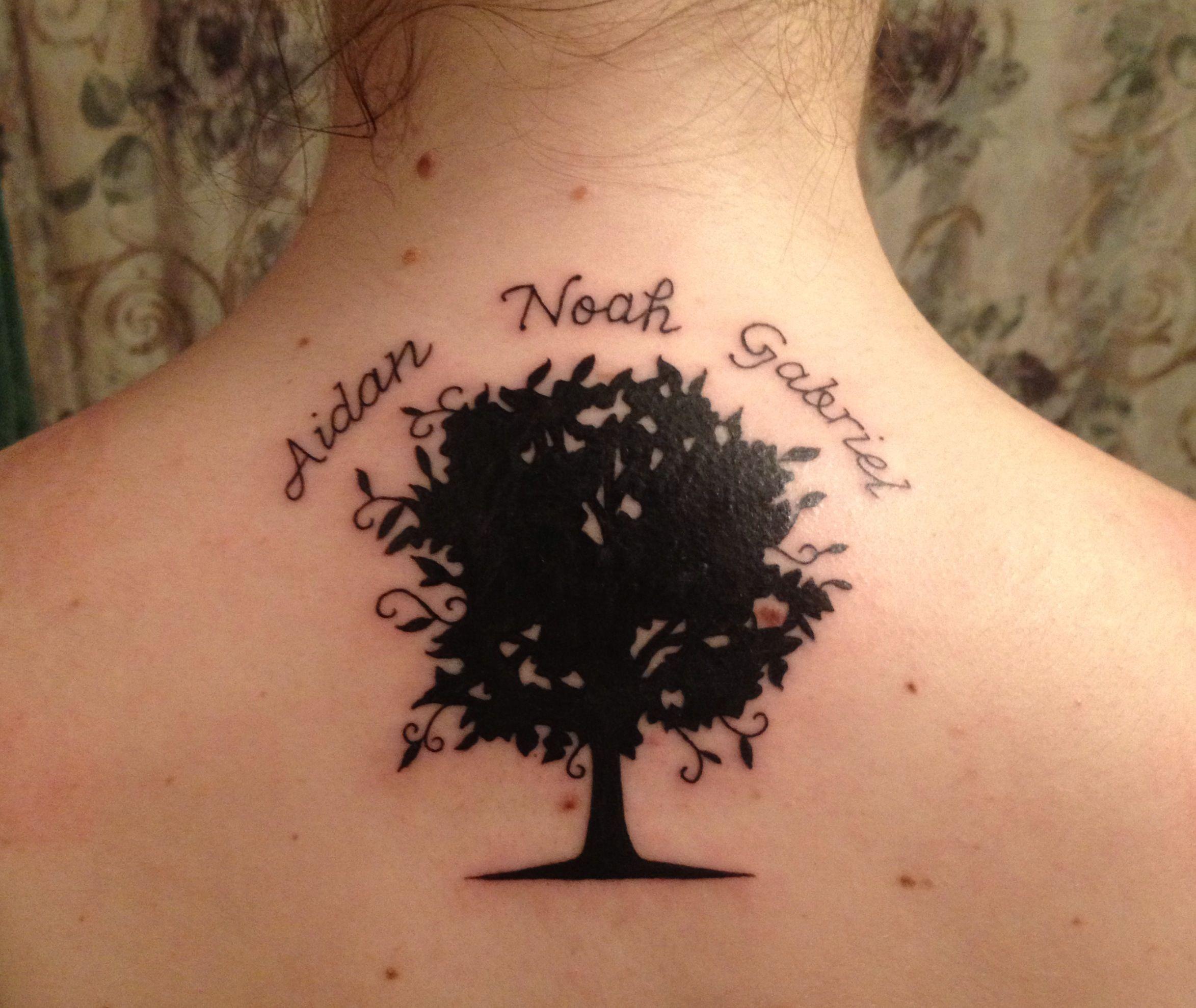 Familytree Tree Tattoo Names Kids Kidsnames Tatoos Pinterest