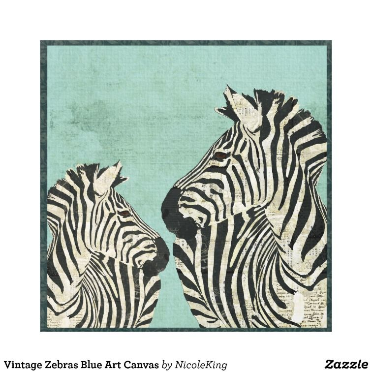 Vintage zebras blue art canvas blue art canvases and paintings vintage zebras blue art canvas altavistaventures Image collections