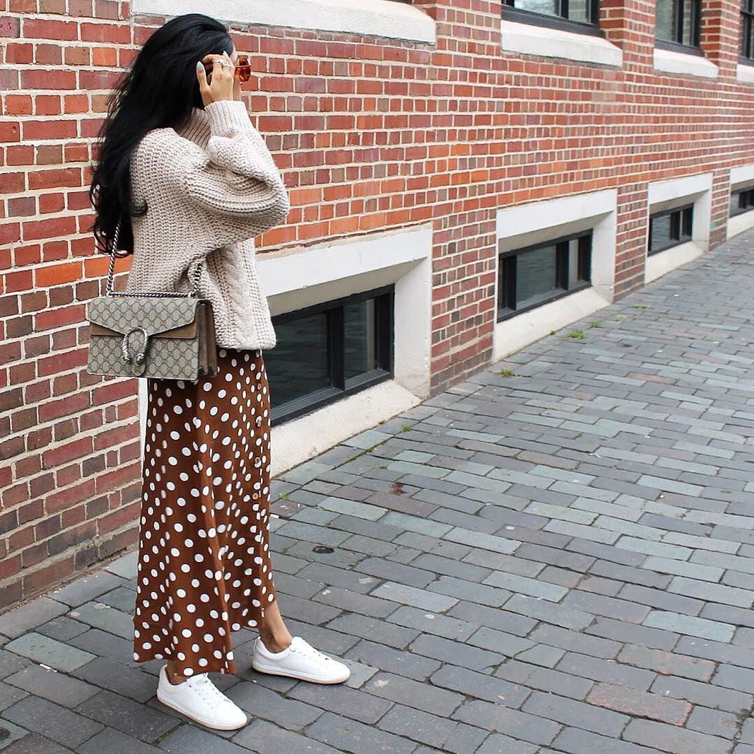 4f71c70203 La falda midi de lunares low cost de mango que está arrasando en instagram