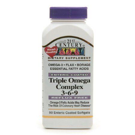 21st Century Triple Omega Complex 3 6 9 Softgels 90 Ea