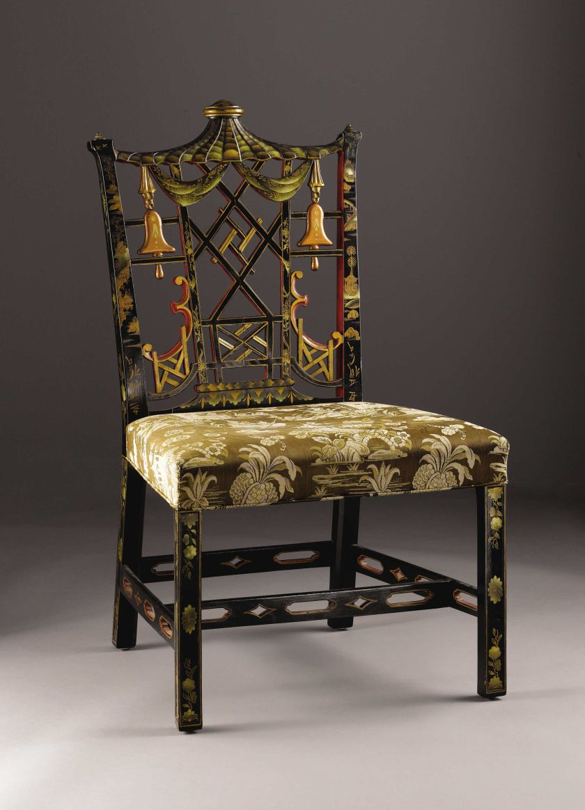 A Chinese Chippendale Style Side Chair English