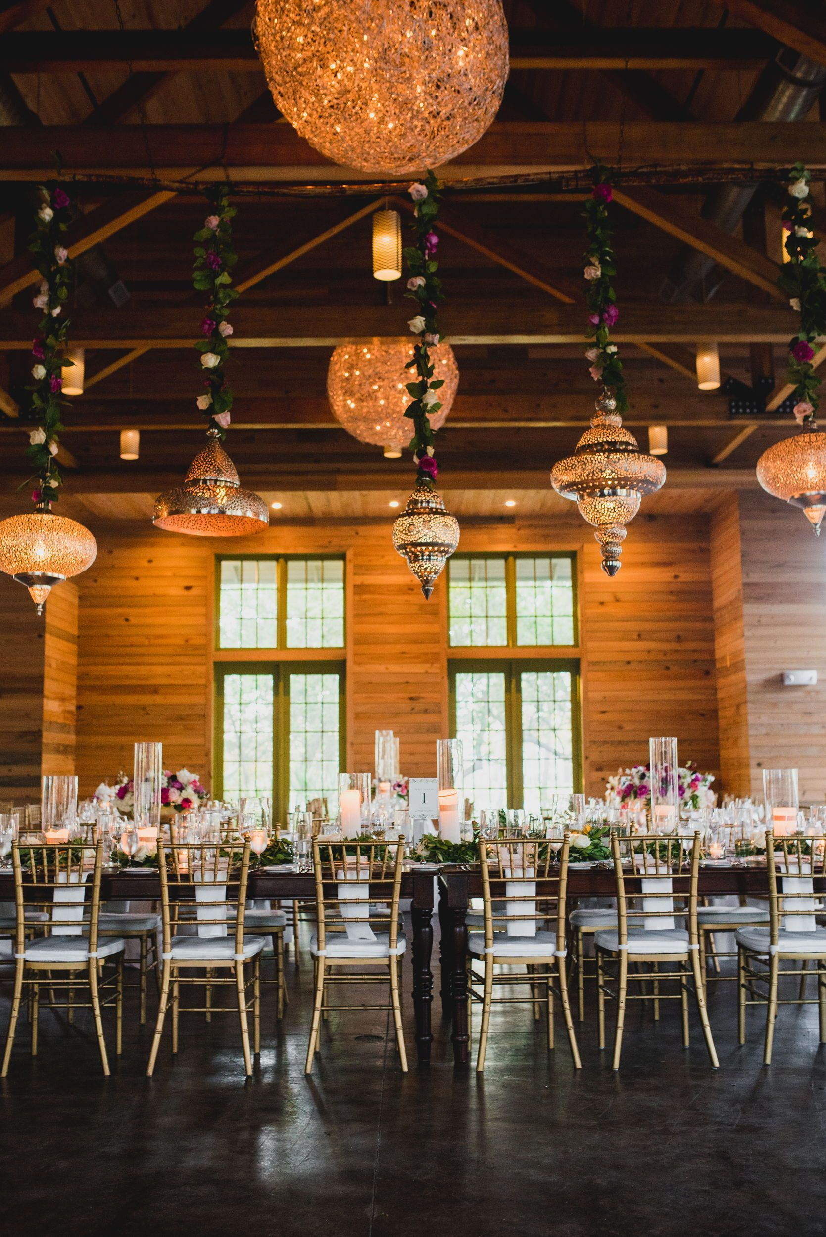 Classy boho chic wedding decor and lighting ideas Flower ropes