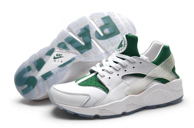 super popular 0bdfe 82afd Nike Air Huarache Mens Shoe White And Green