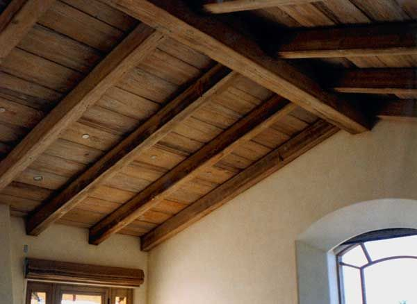 Exposed Beam, Vaulted Wooden Ceiling ~ it could even be ...