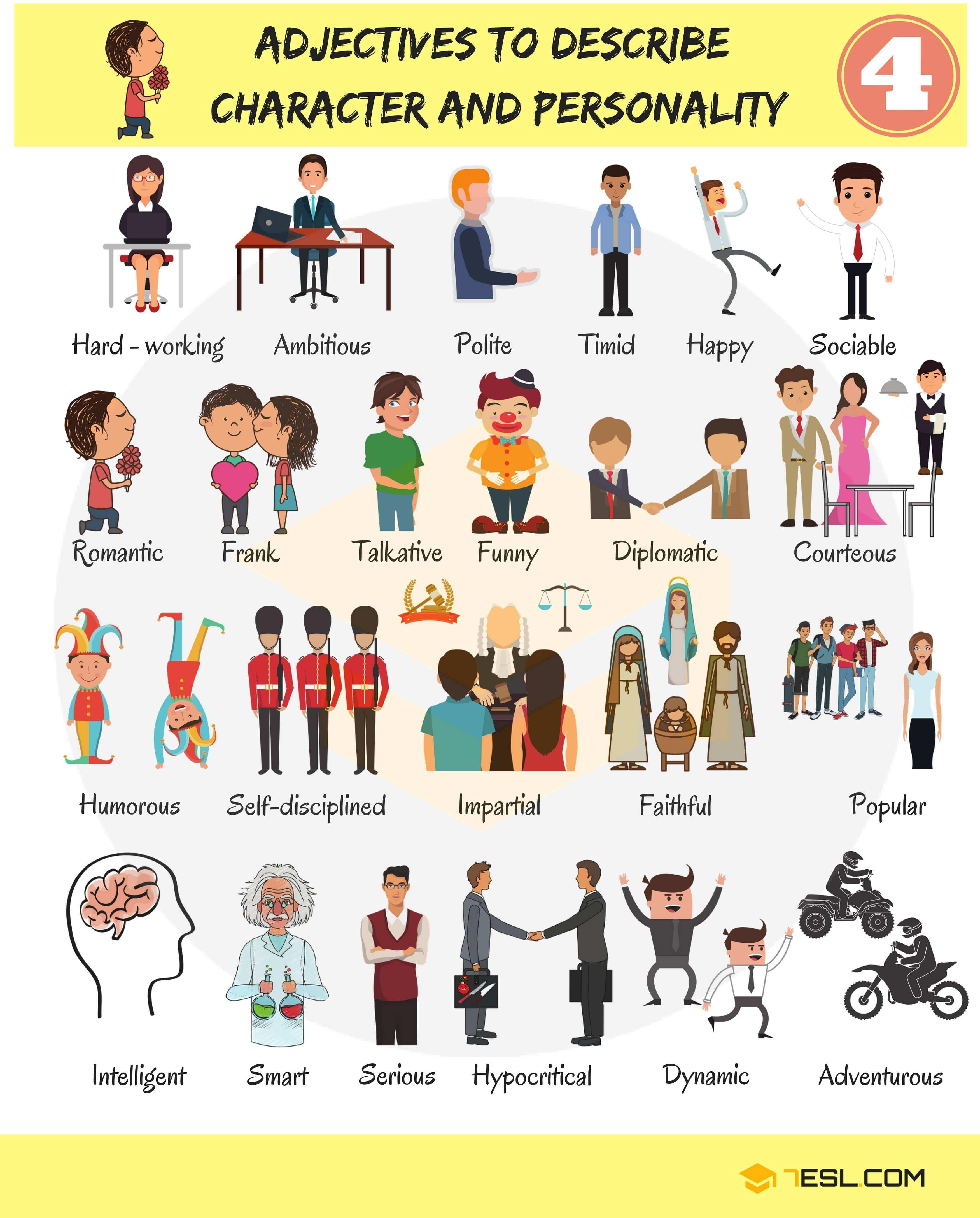 Personality Adjectives Esl Worksheet