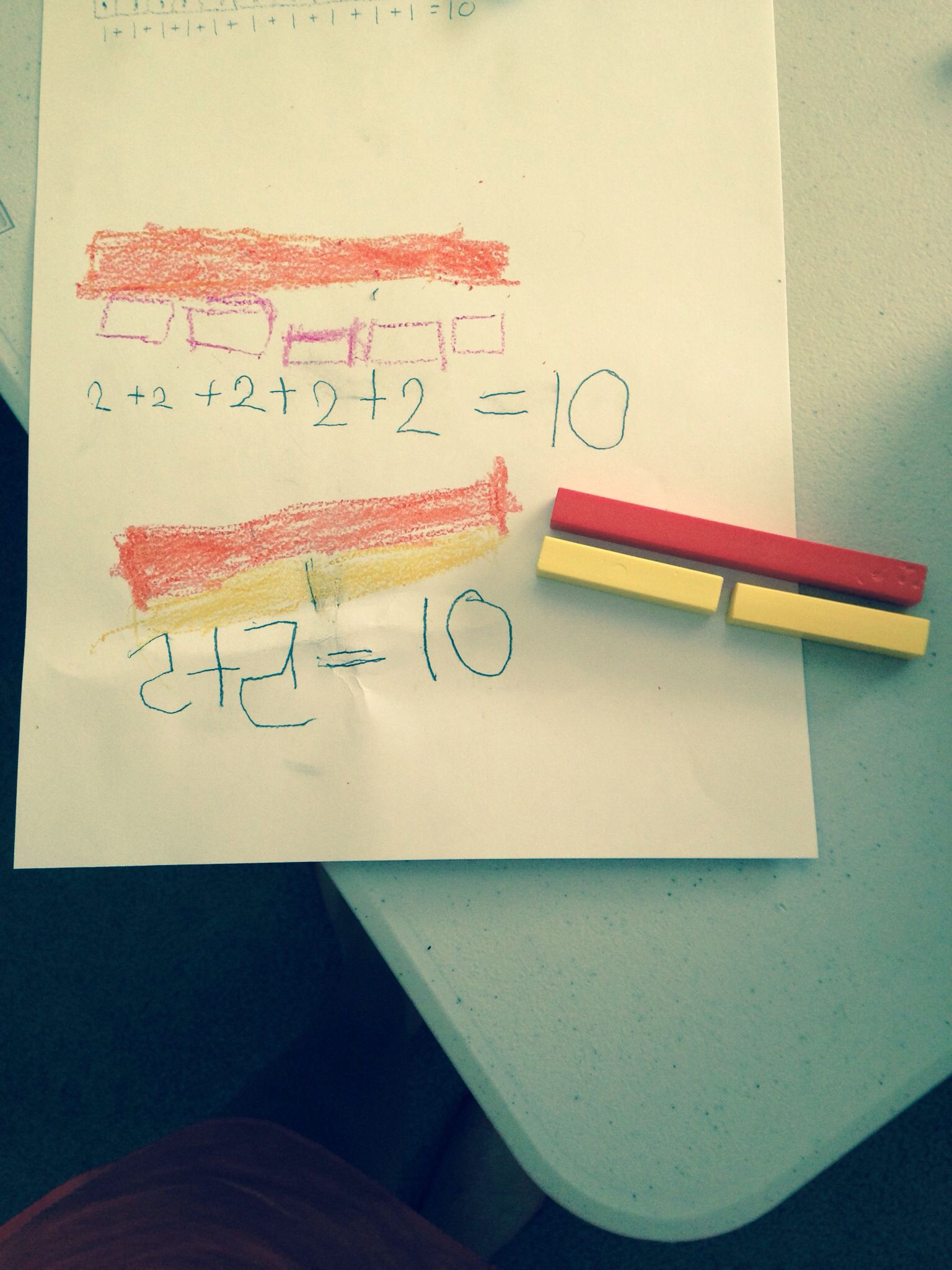 Building Addition Sentences With Cuisenaire Rods