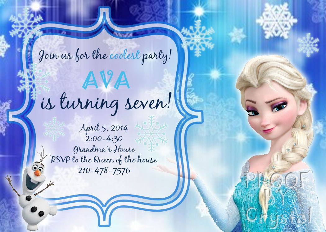 Frozen Theme Invitation Elsa Order At Httpswwwfacebookcom - Birthday invitation frozen theme