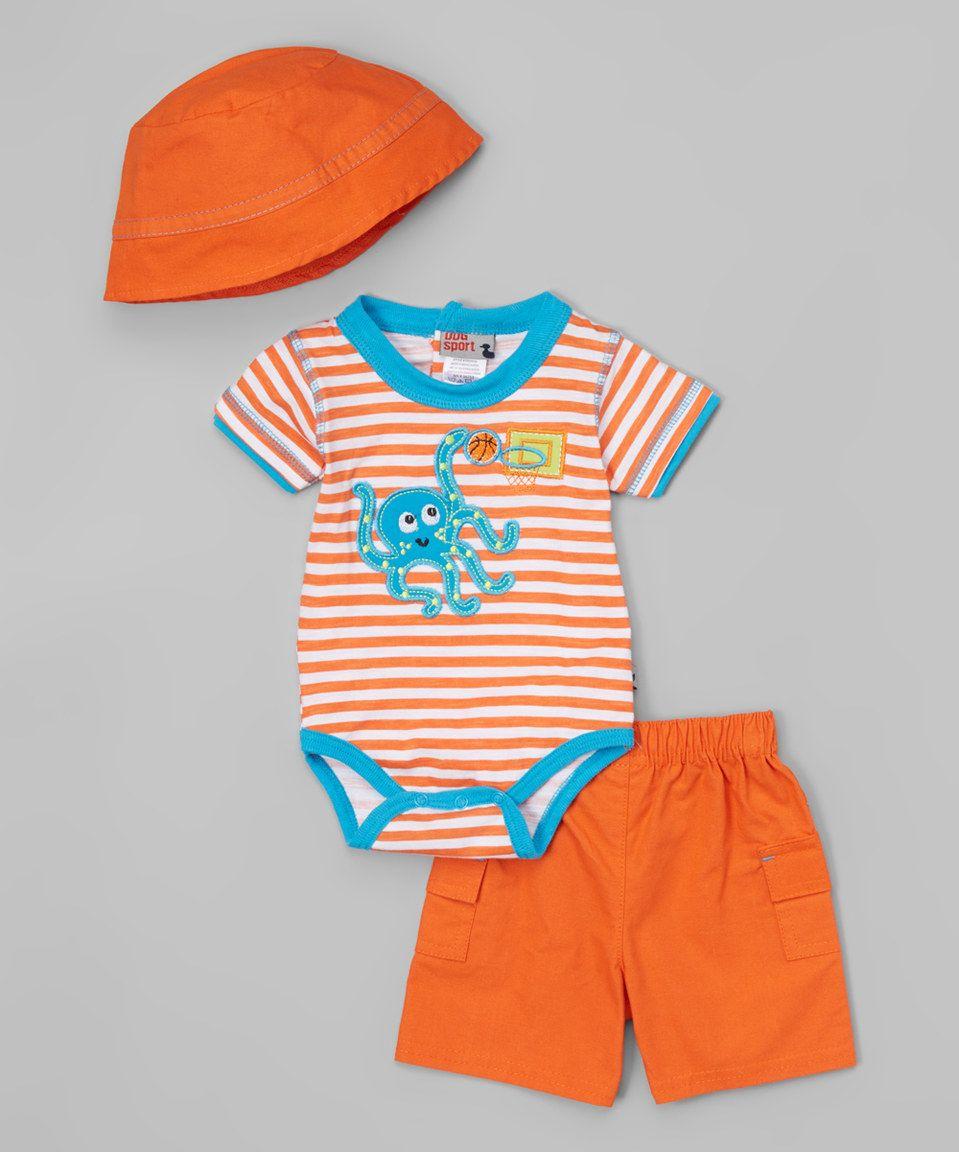 55bce4bd4 Orange Octopus Bodysuit Set - Infant by Duck Duck Goose #zulily #zulilyfinds
