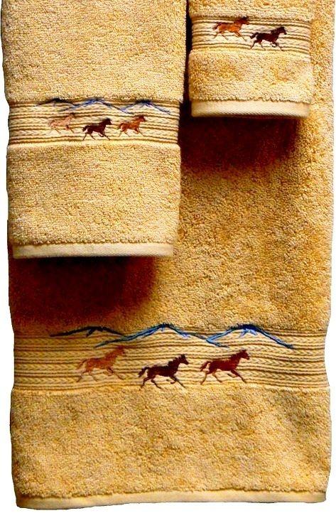 Chimayo Southwest Embroidered Pomegranate 3 Pc Bath Towel Set Towel Set Embroidered Bath Towels Bath Towel Sets