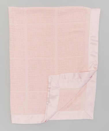 Look at this #zulilyfind! 35'' x 47'' Pink Cell Receiving Blanket by Living Textiles Baby #zulilyfinds