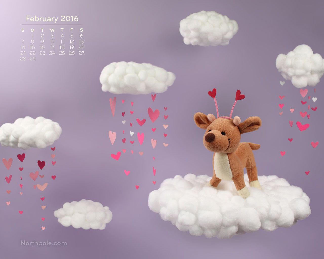 This Valentine's Day Raymond the reindeer is showering everyone with love and cheer! Brighten up your workspace with this cute wallpaper all month long. Download it for free at the Elf Blog.