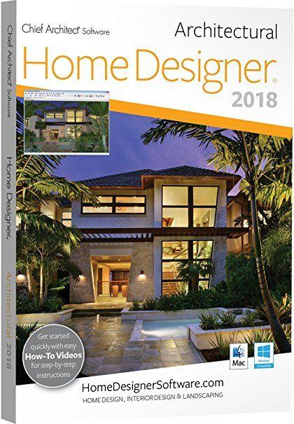 Chief Architect Home Designer Architectural 2018 - DVD/Key Card ...