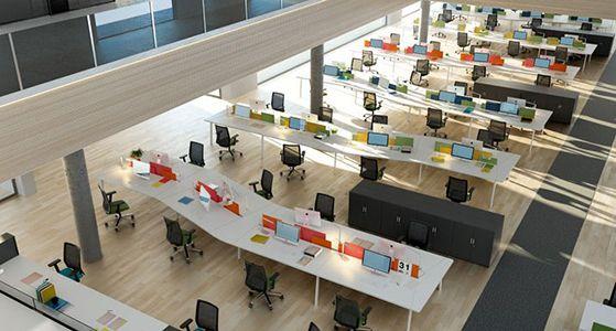 Espacios abiertos en decoraci n de oficinas modernas for Decoracion espacios abiertos