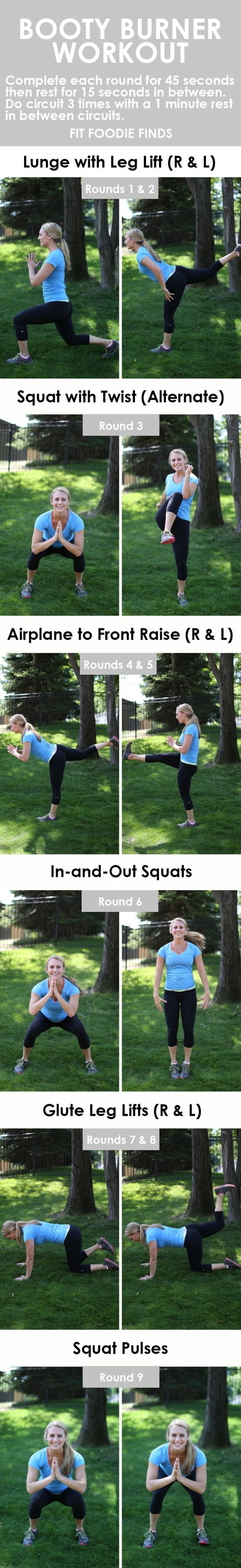 BOOTY BURNER: Workouts Targeting the Legs and Butt
