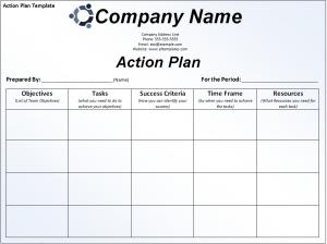 Action Plan Template  AztemplatesOrg