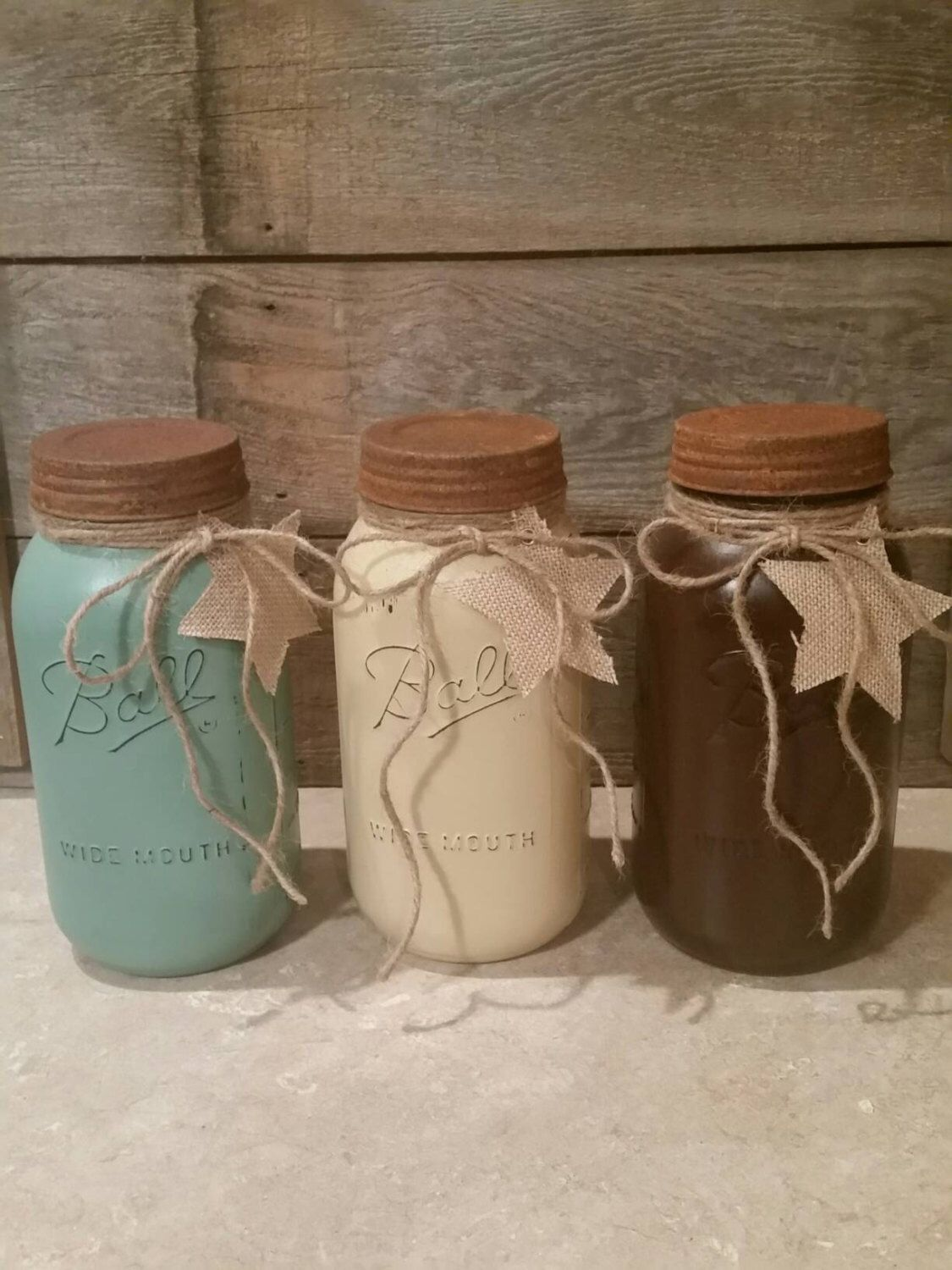 Rustic Kitchen Canister Sets Mason Jar Canisters Ball Jar Canisters Mason Jar Kitchen Decor