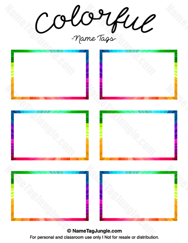 photo relating to Printable Name Tag Template named Pin by means of Muse Printables upon Standing Tags at