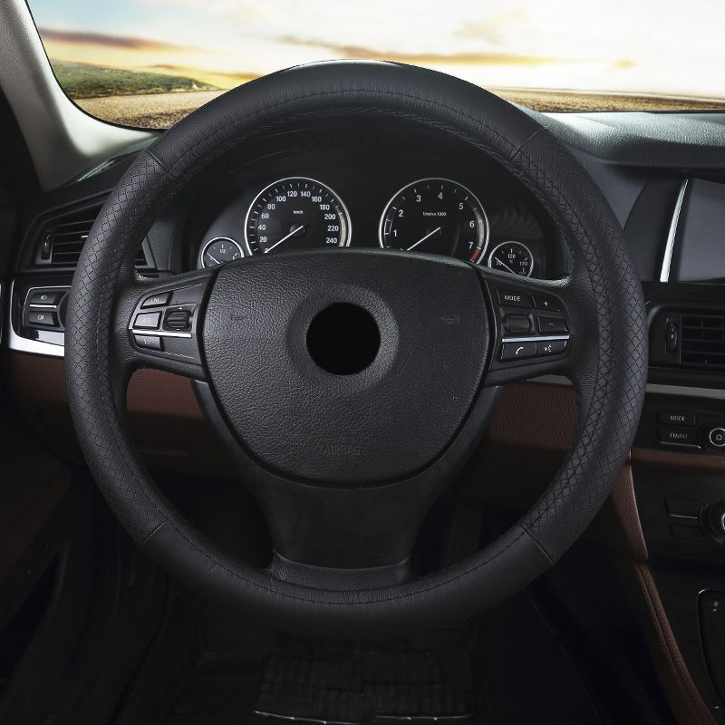Car Leather Steering Wheel Cover For Volkswagen C Trek Sagitar Magotan Cc Lavida Passat Polo Ca Car Interior Accessories Interior Accessories Fit Car