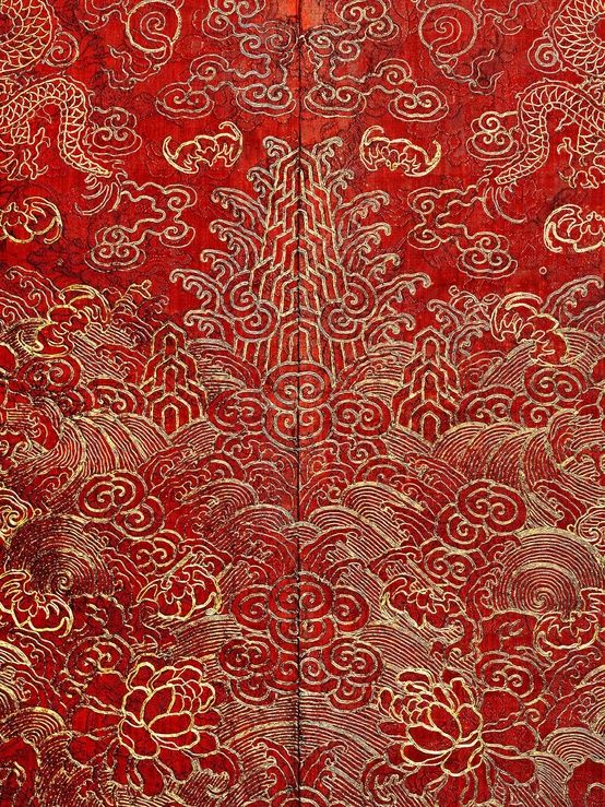 Detail of Festival Robe, Qing dynasty (1644–1911), 19th-century; The Metropolitan Museum of Art @metmuseum