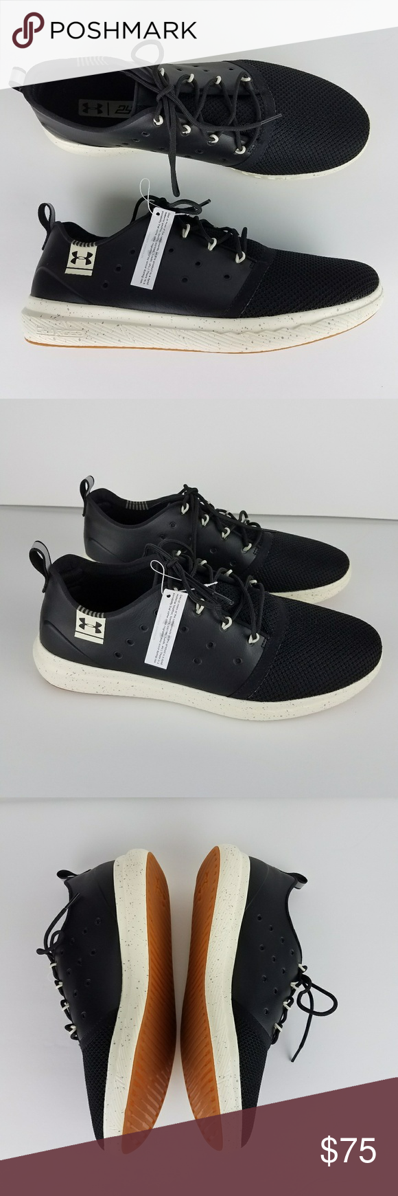 online store 88db0 0c11c UNDER ARMOUR 24 7 UA Low Leather Running Shoes 11 NWT in 2018   My Posh  Picks   Pinterest