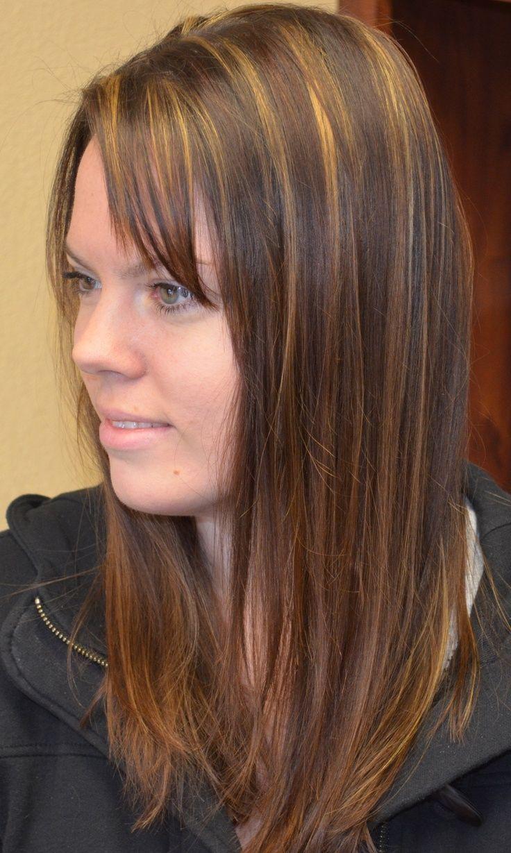 Caramel Highlights For Dark Brown Hair At Home  Hair Styles/Colors  Pinterest  Brown hair