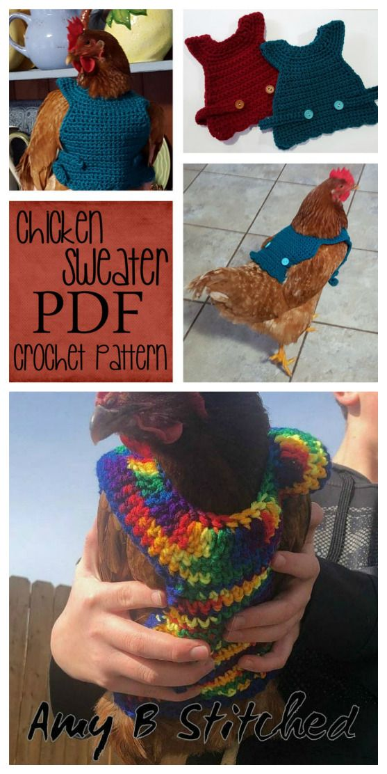 Chicken Sweater Crochet Patterns | The WHOot